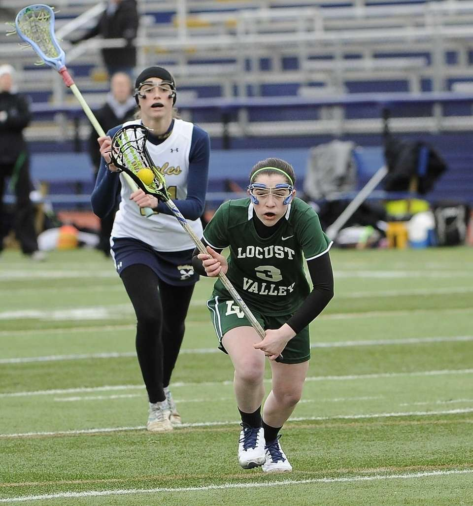 Locust Valley's Lindsay Bleistein takes a free position