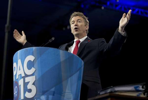 Sen. Rand Paul, R-Ky., speaks at the 40th