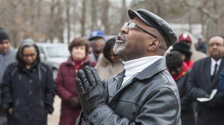 Robert A. Brown from Riverhead attended a prayer