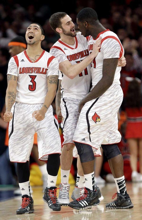 Louisville's Peyton Siva, Luke Hancock and Montrezl Harrell