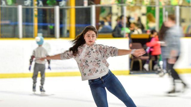 Angela Paxos of Great Neck glides through teen