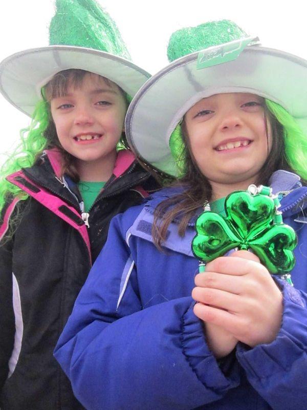 Twins Ashlyn and Alexa Cassidy, 7, of Centereach,