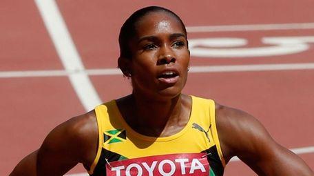 Shevon Nieto, then Shevon Stoddart, of Jamaica reacts