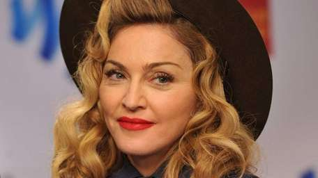 Madonna backstage at the 24th annual GLAAD Media