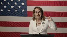 Former Rep. Gabby Giffords addresses the virtual Democratic