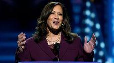 Democratic vice presidential candidate Sen. Kamala Harris of