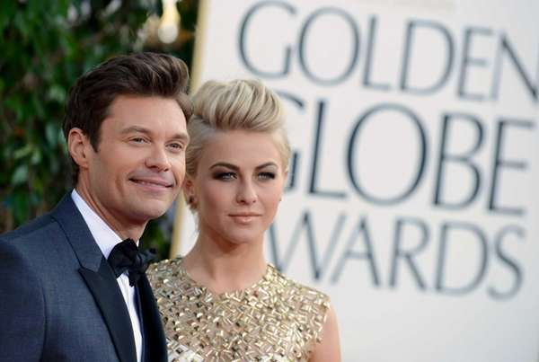 TV host Ryan Seacrest and actress Julianne Hough
