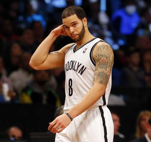 Deron Williams of the Nets looks on late