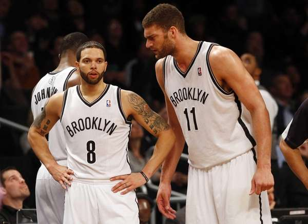 Deron Williams and Brook Lopez of the Nets