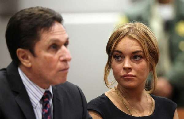 Lindsay Lohan appears in court for a pretrial