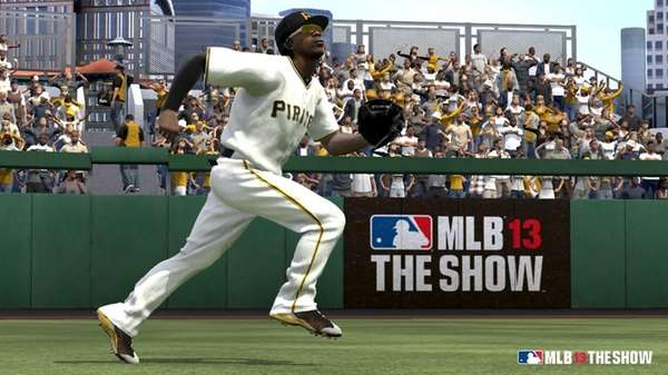 A screengrab from MLB 13: The Show depicts