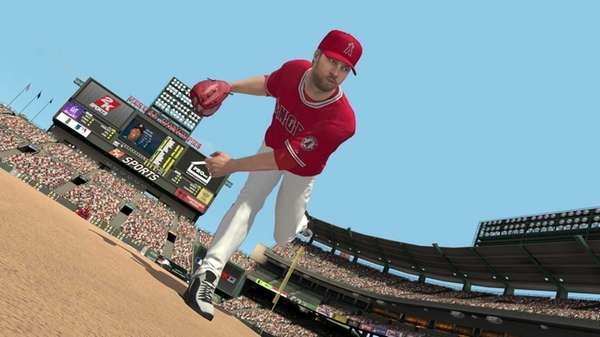 A screengrab is shown from Sony's MLB 2K13.