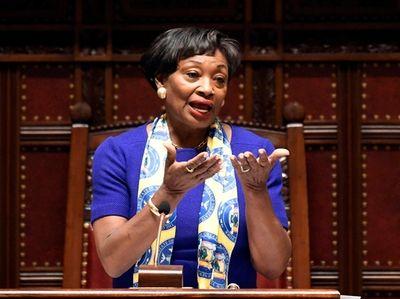 Senate Majority Leader Andrea Stewart-Cousins (D-Yonkers) on Jan.