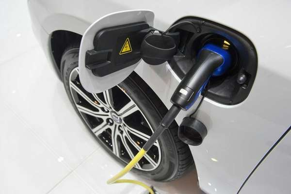 The electrical plug in of new Volvo V60