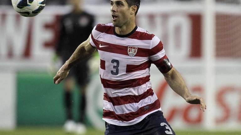 United States defender Carlos Bocanegra (3) is shown