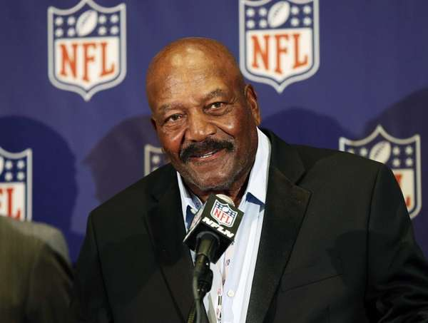 Former Cleveland Brown Hall of Famer Jim Brown