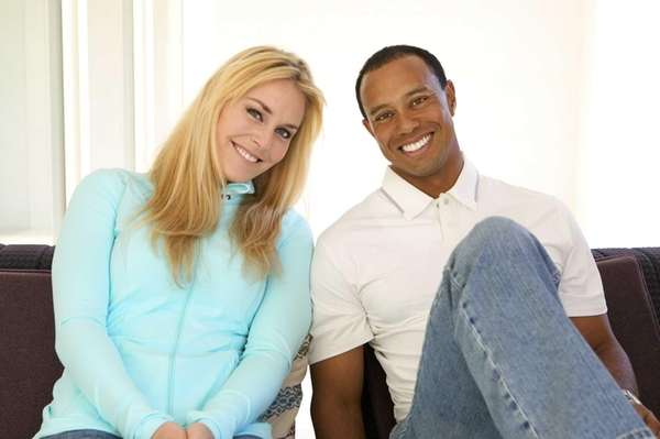 Skier Lindsey Vonn and golfer Tiger Woods posted