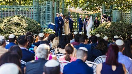 A wedding is under way at the Nassau