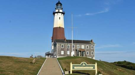 The grounds and museum at the Montauk Lighthouse