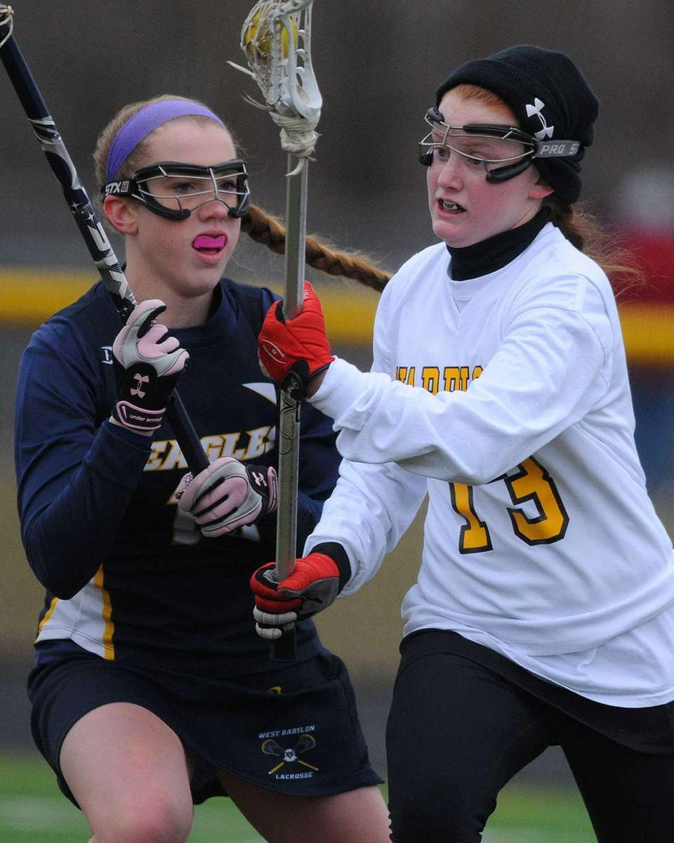 Wantagh junior Brenna Connolly looks to get past