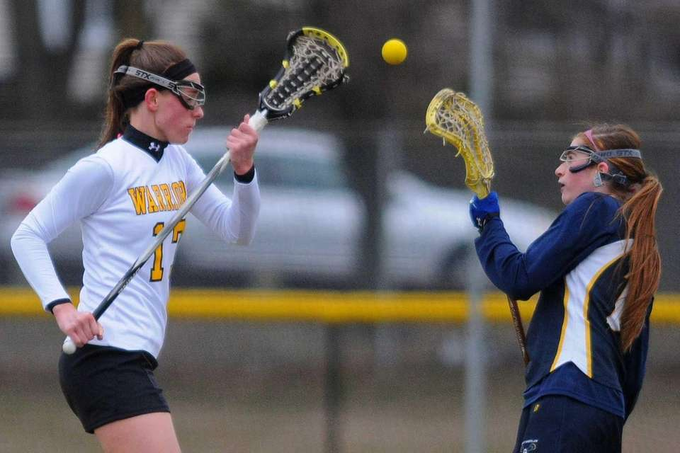 Wantagh junior Paige Craig, left, and West Babylon's