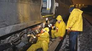 Long Island Rail Road crews worked overnight in