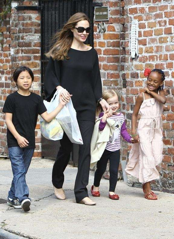 Angelina Jolie and Brad Pitt talked to CelebrityBabyScoop.com