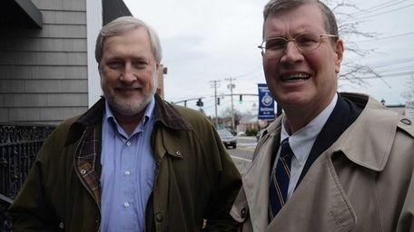 From left, Glenn Williams, president of the Smithtown