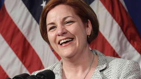 Christine Quinn is the first female New York
