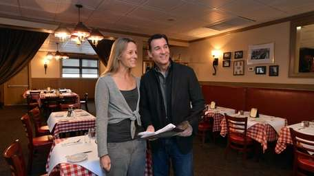 Helene and Tom Suozzi in the dining room