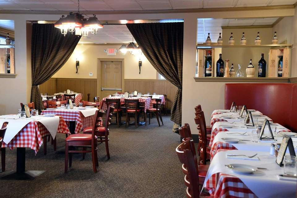 The dining room at Stango's in Glen Cove,