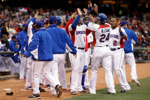 Robinson Cano of the Dominican Republic celebrates with