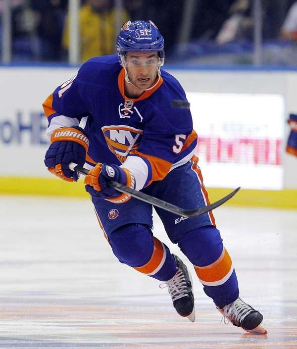 Frans Nielsen of the Islanders skates against the