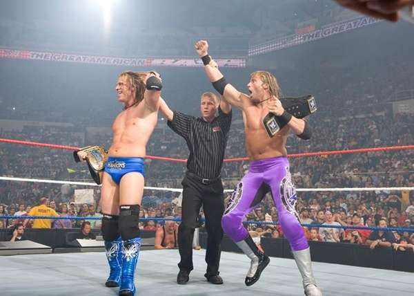 WWE Superstars and Long Island natives Curt Hawkins,