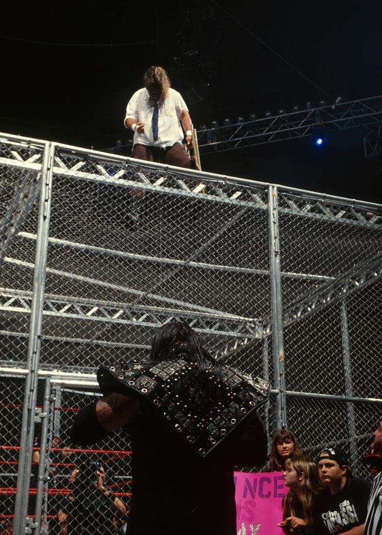 Mick Foley, as Mankind, faced The Undertaker in