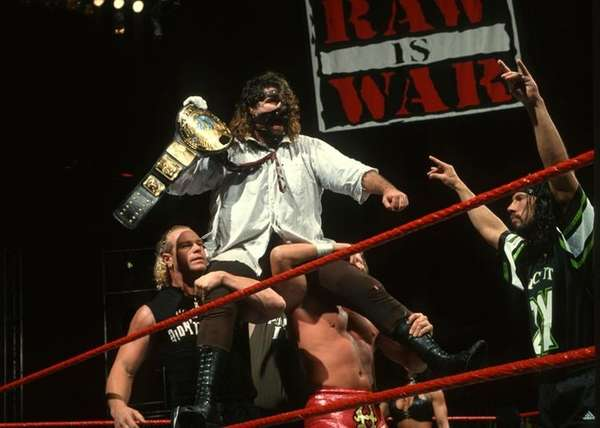 Long Island's own Mick Foley, as Mankind, won