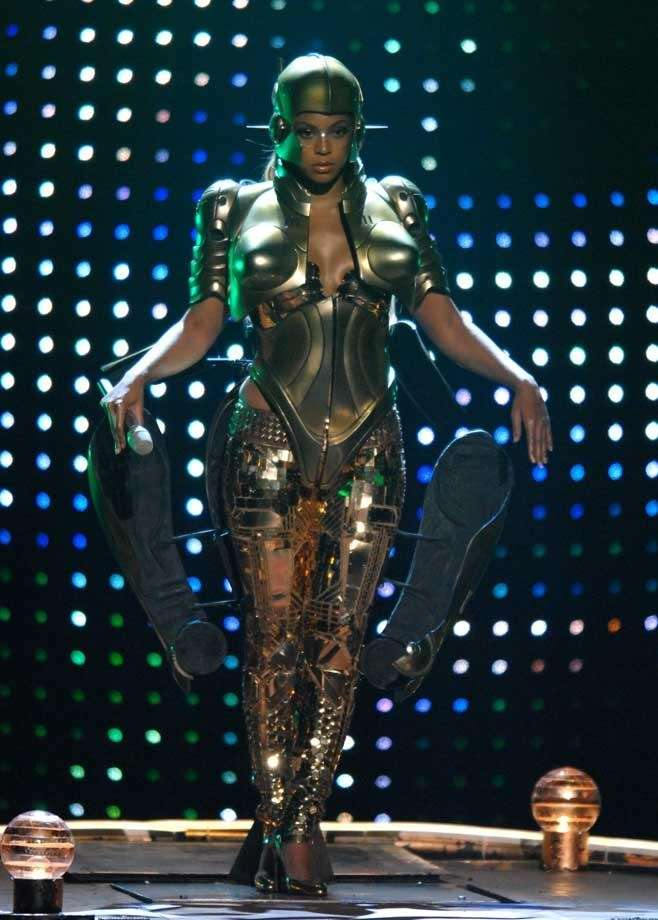 Beyonce performs her single