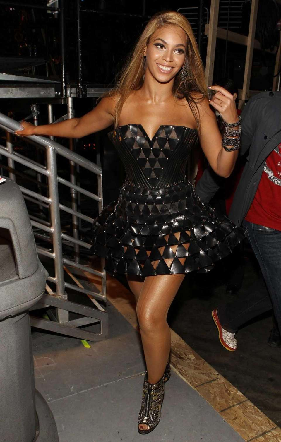 Singer Beyonce Knowles backstage during the 52nd annual