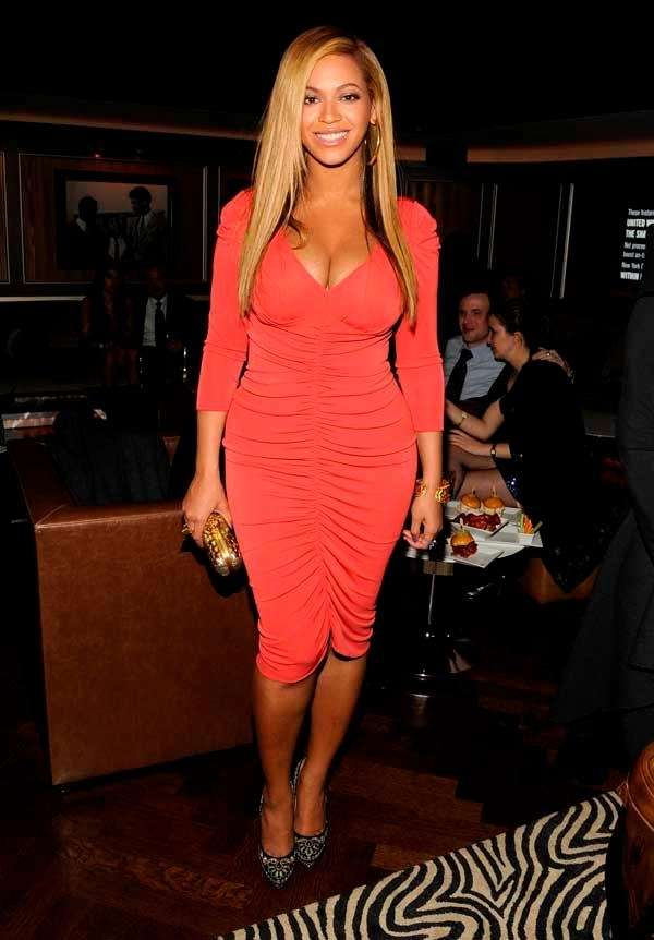 Beyonce attends the after-party following Jay-Z's concert at