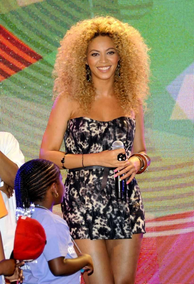 Pop singer Beyonce Knowles makes and appearance at