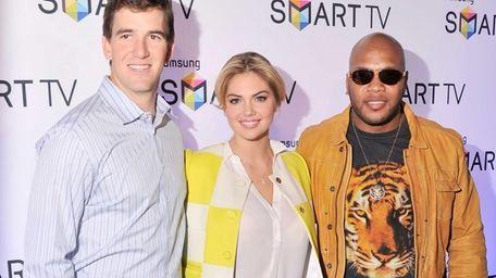 Giants Quarterback Eli Manning, model Kate Upton,