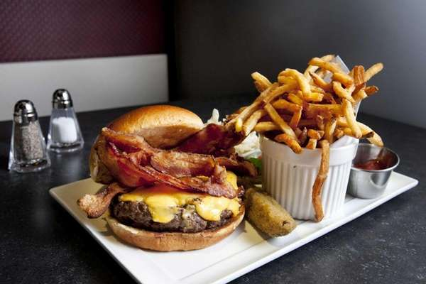 The burger at Bottomz Up is a juicy,