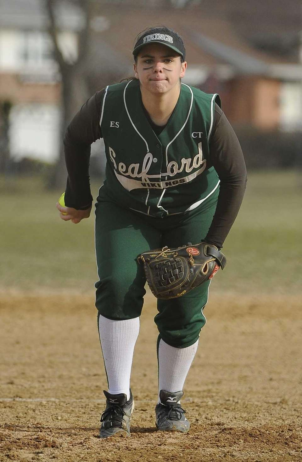 Seaford pitcher Lindsay Montemarano delivers a pitch in