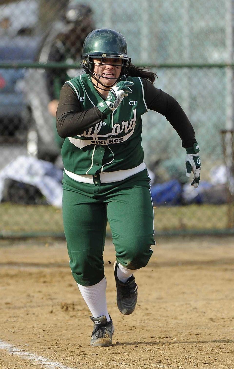Seaford's Lindsay Montemarano runs the bases after hitting
