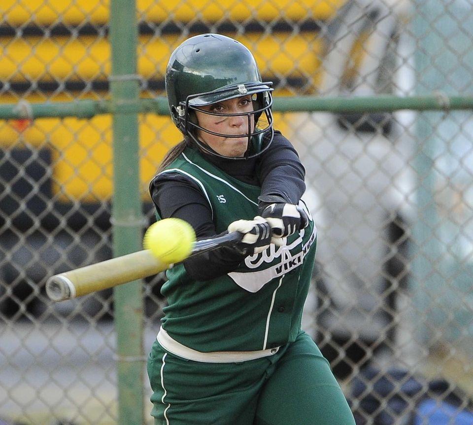 Seaford's Toni-Ann Medaglia bats against Floral Park in