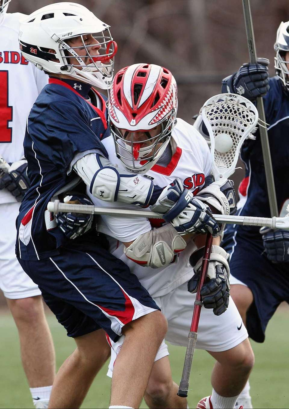 Cold Spring Harbor's Ian Laviano goes against South