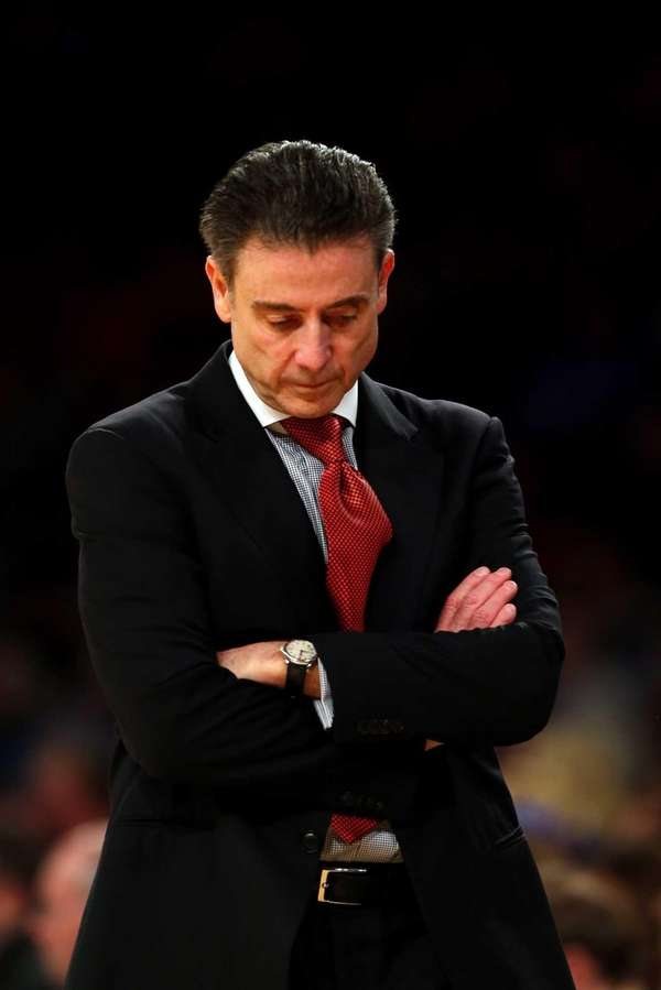 Louisville head coach Rick Pitino of the Louisville