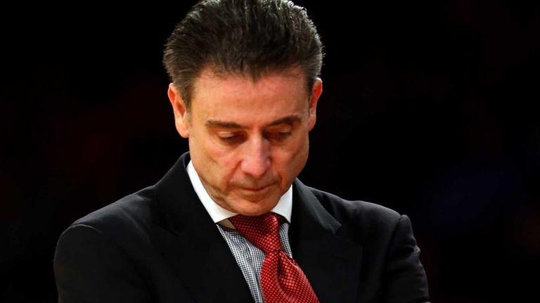 Louisville head coach Rick Pitino of the Louisville