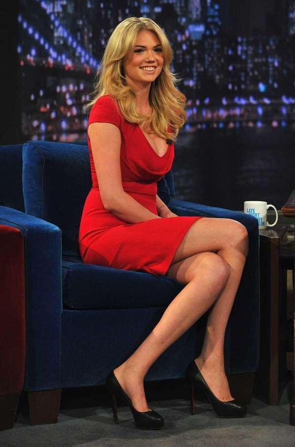 Kate Upton visits quot;Late Night With Jimmy Fallonquot;