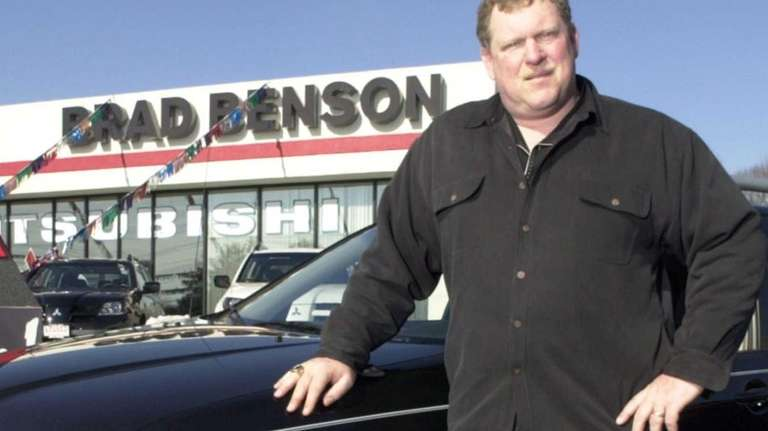 Car dealer Brad Benson, a former Giants center,